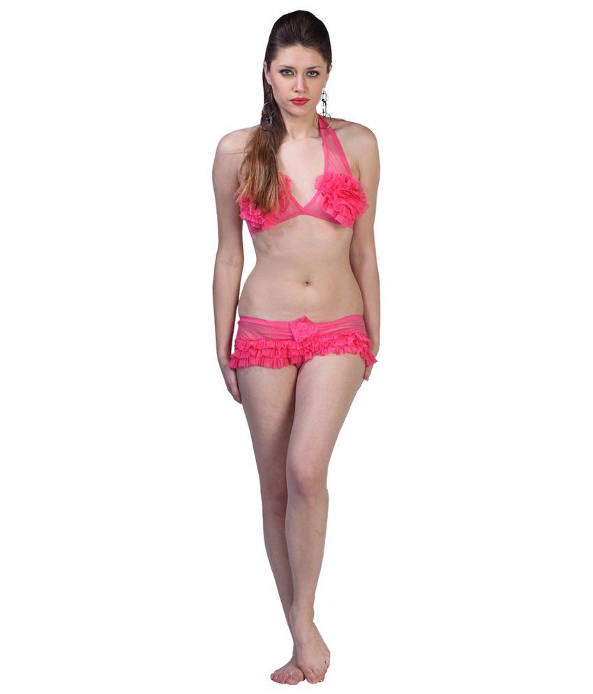 Fascinating Lingerie Pink Bra & Panty Sets