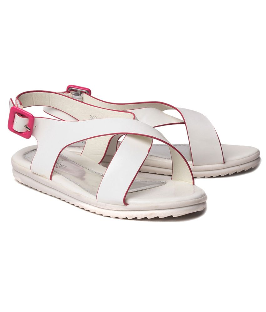 41826ade81197b Kids By STEPpings Fancy White Girls Sandals Price in India- Buy Kids ...