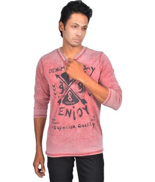 Inego Pink Cotton Blend T-shirt