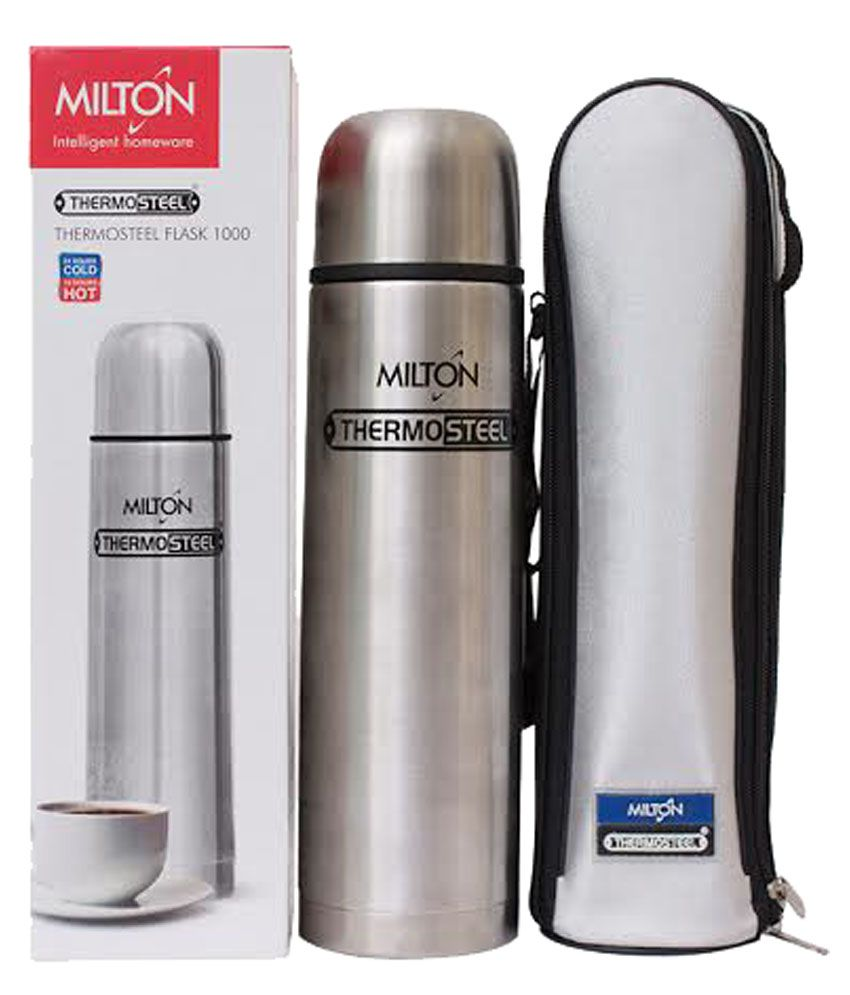 Milton Thermosteel Flip Lid Flask, 1000ml, Silver (EC-TMS ...