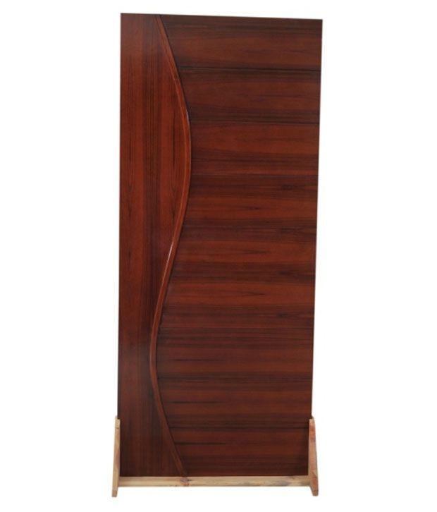 Buy Continental Melamine Polished Veneer Door Dark Brown Online At