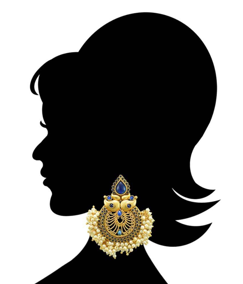 Adiva Antique Polki Drop Earrings