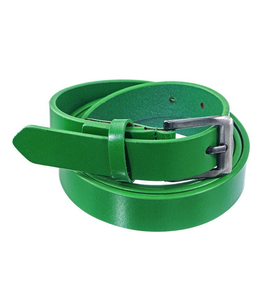 Lee Italian Green Leather Belt