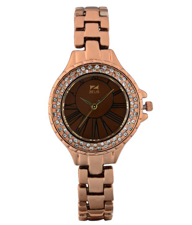 Zeus Goldenrod Metal Women Watches