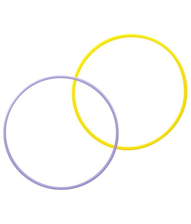 Domyos Combo of 2 Purple & Yellow Fitness Hoops 65cm