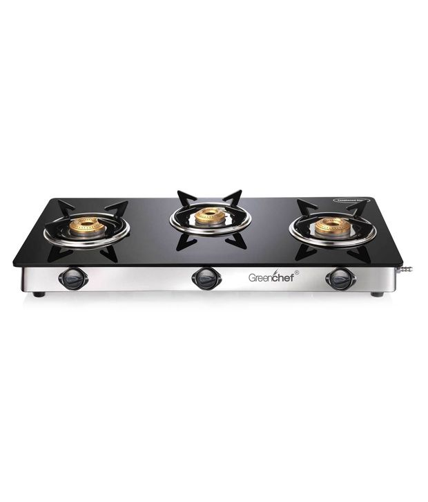 Greenchef Namo 3 Burner Glass Top Stove Price in India