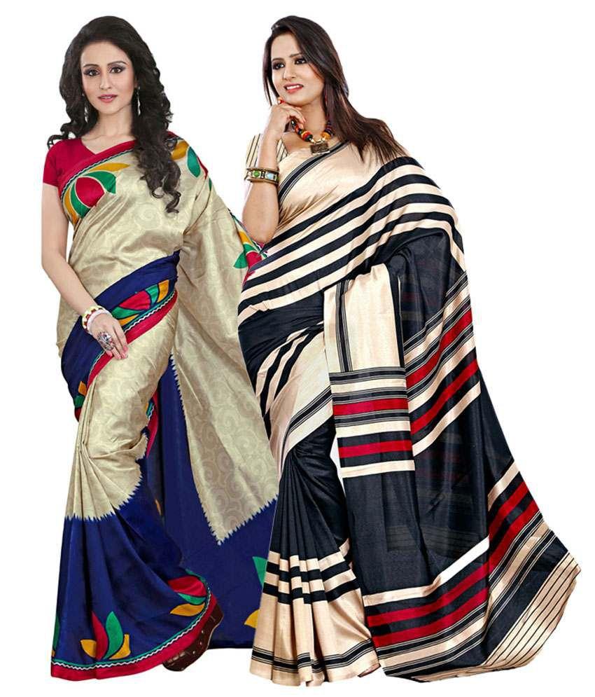 Yuvanika Black & Beige Cotton Pack of 2