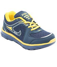 Asian Navy Mesh Sports Shoes For Kids