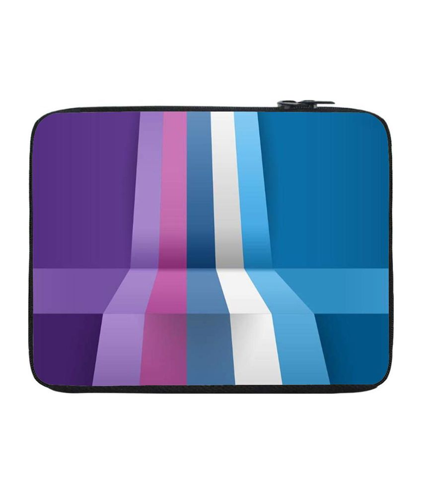 Snoogg Blue and Purple Laptop Sleeve