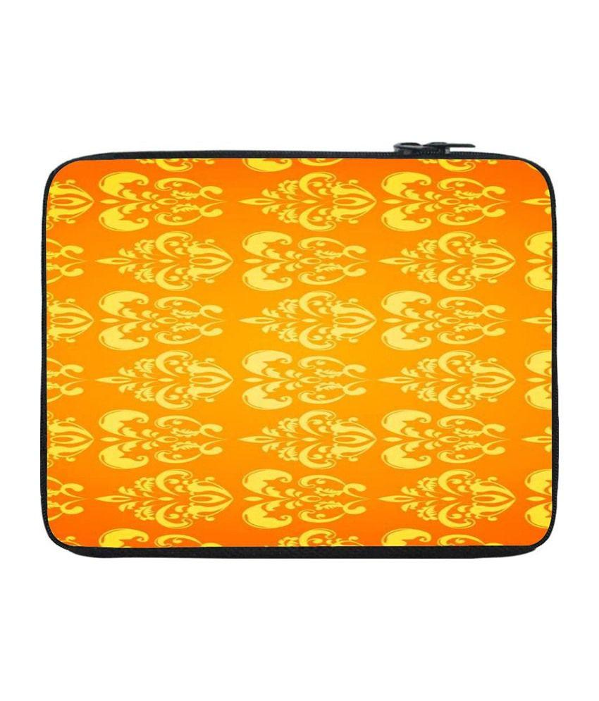 Snoogg Orange and Yellow Laptop Sleeve