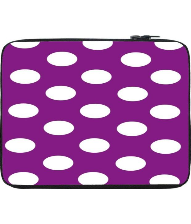 Snoogg Purple Laptop Sleeve