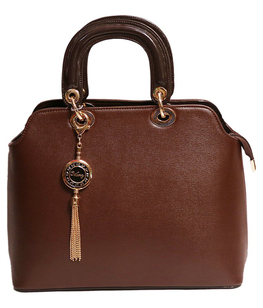 Wenz Designer Brown Leather Hand Bags