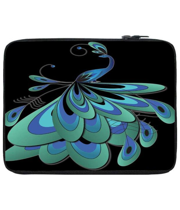 Snoog Blue & Black Laptop Sleeve