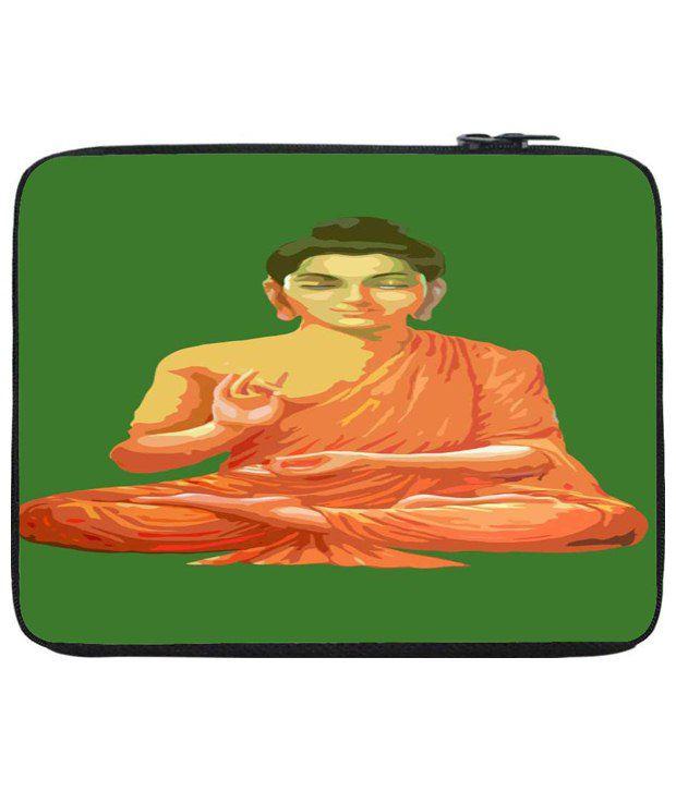 Snoog Orange & Green Laptop Sleeve