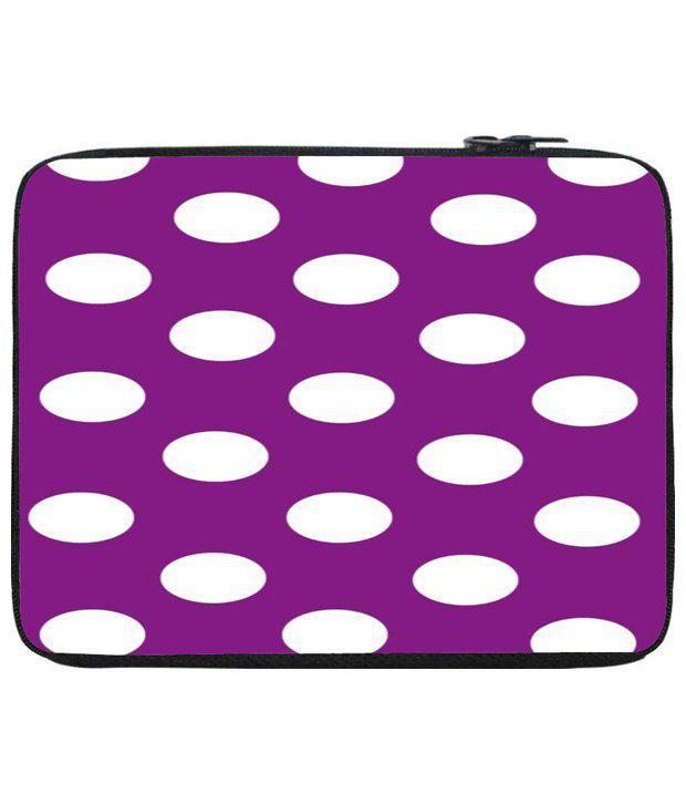 Snoog Purple & White Laptop Sleeve