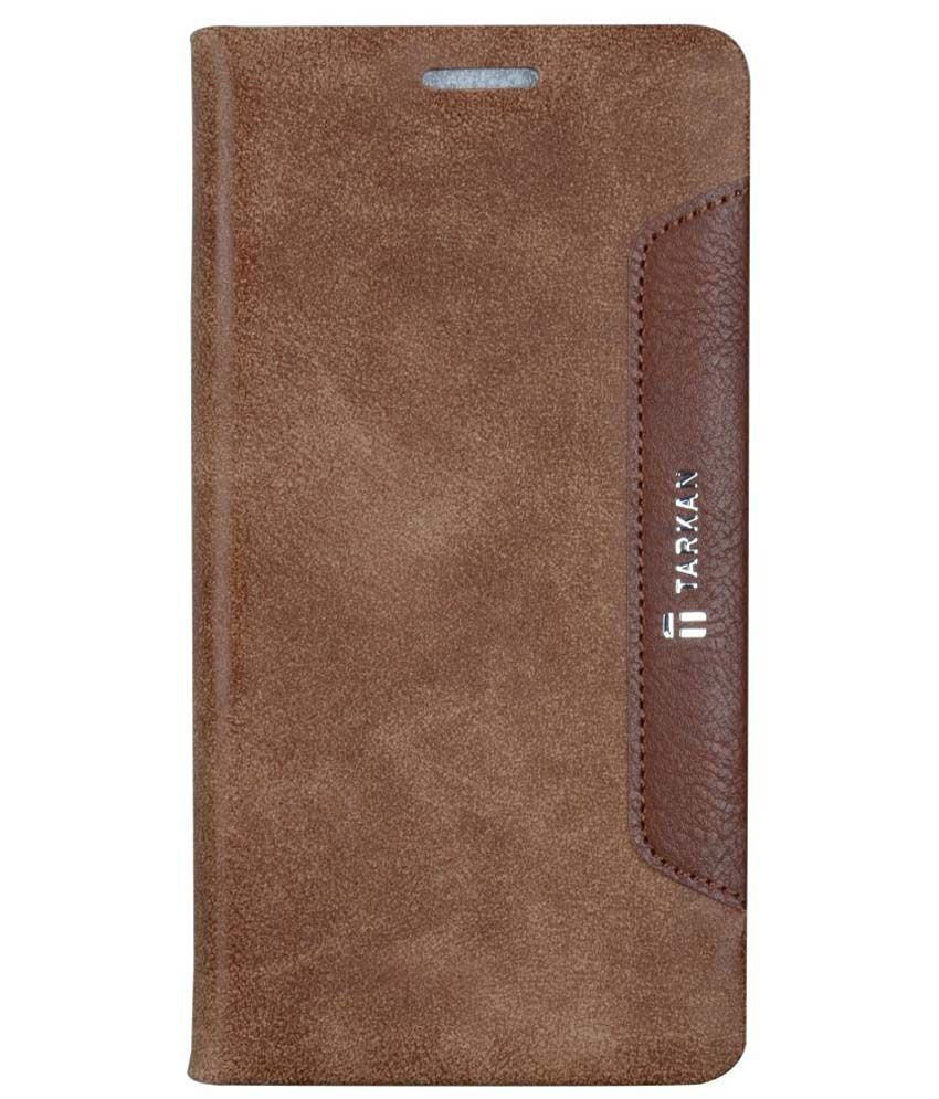 Tarkan Pu Leather Magnetic Flip Stand Case Cover For Lenovo A7000/k3 Note - Brown