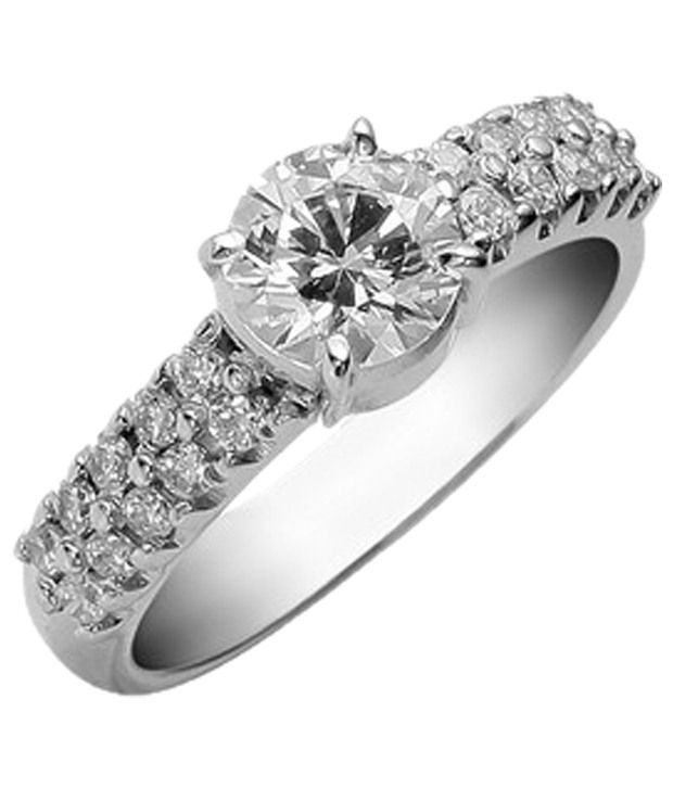 Cara Design House Everlasting 92.5 Sterling Silver CZ Ring with Free Swarovski Stud Earrings for Women
