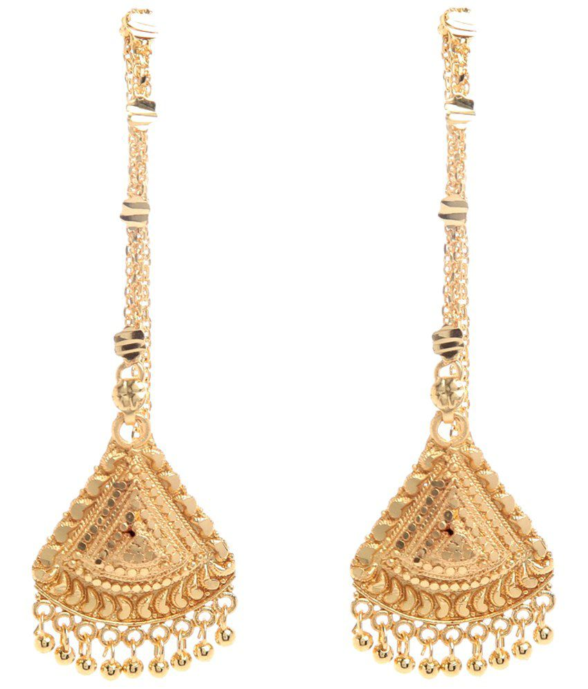 GoldNera Golden Chandelier Earrings