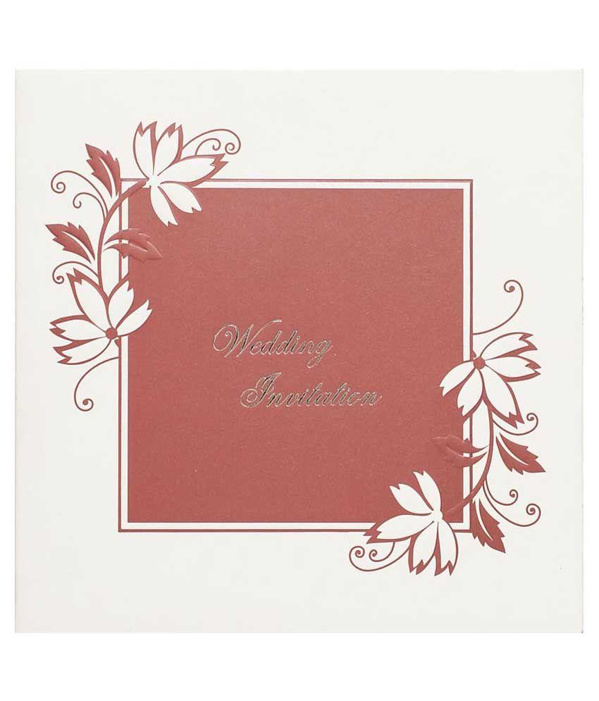 Nakoda Cards All Faiths Wedding Invitation Card - Pack Of 100: Buy ...