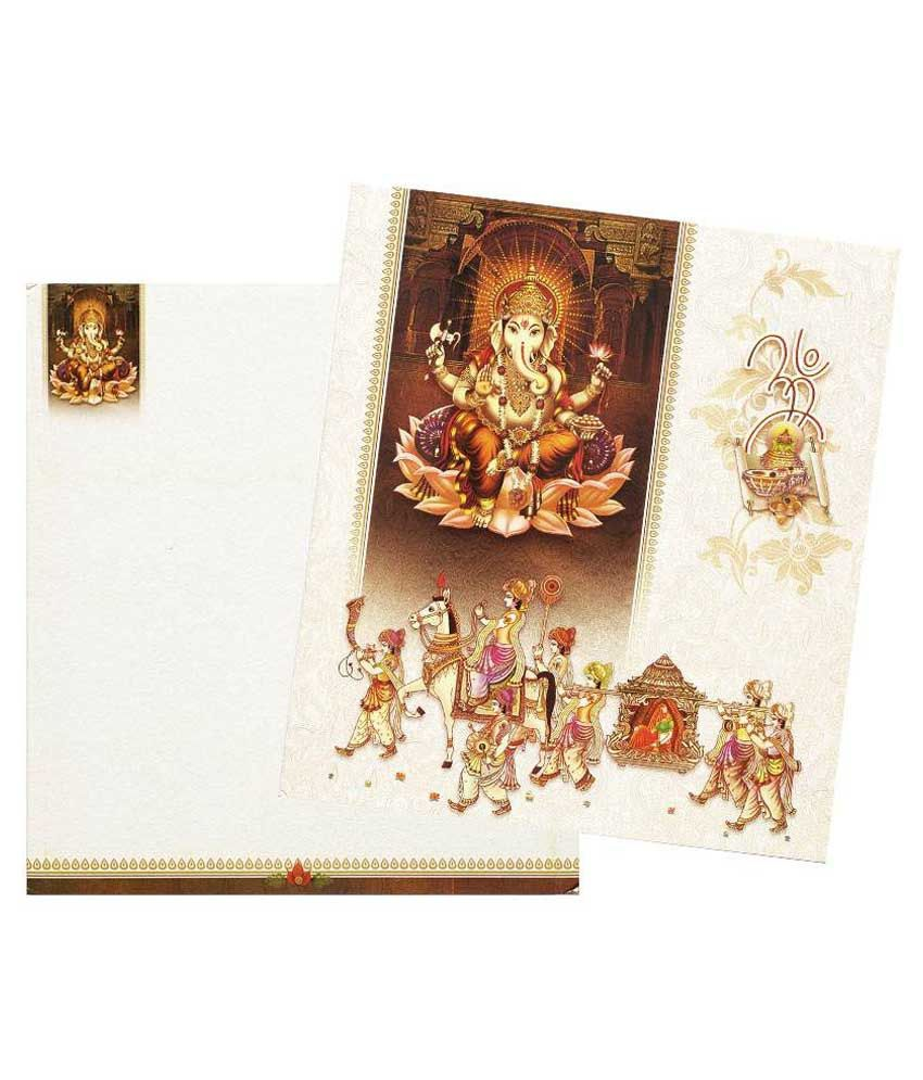 indian wedding invitation cards with price%0A Nakoda Cards Doli Baraat Invitation Card  Pack Of