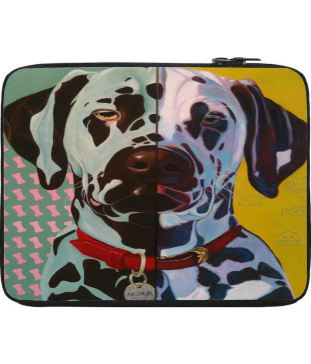 Snoogg Yellow and Green Laptop Sleeve