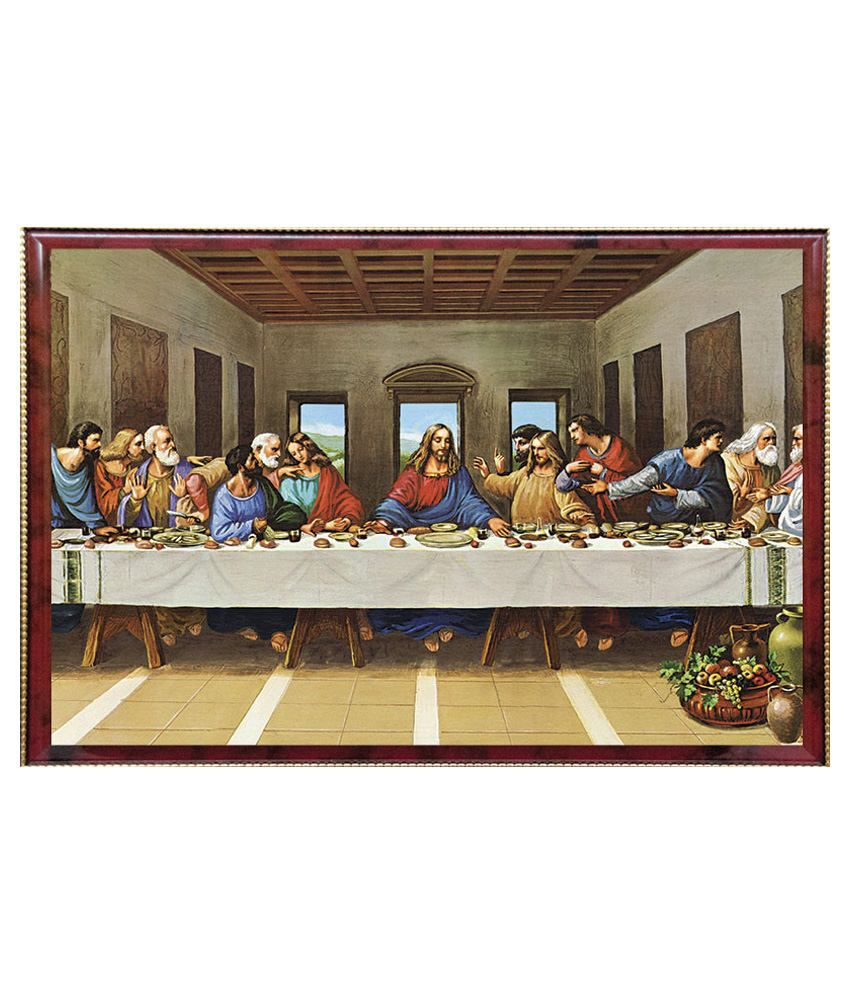 Pictoreal Multicolour Last Supper 3D Photo Frame: Buy Pictoreal ...