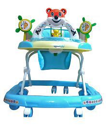 Panda Blue Plasic Baby Walker