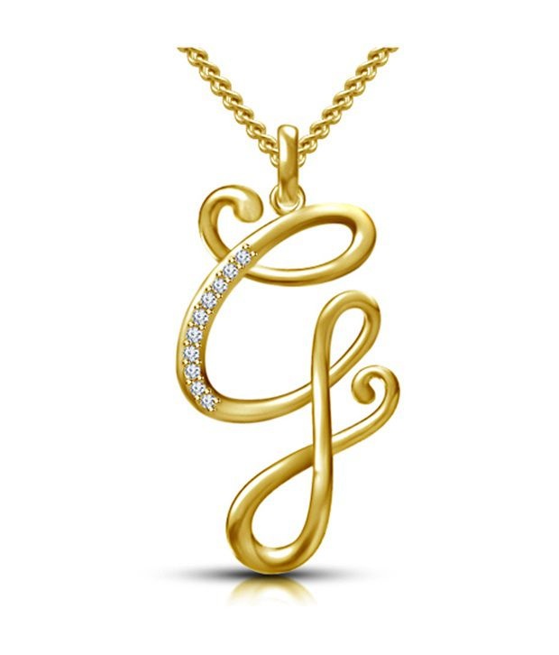 Kataria jewellers letter g gold plated 925 sterling silver and kataria jewellers letter g gold plated 925 sterling silver and swarovski alphabet initial pendant aloadofball Image collections