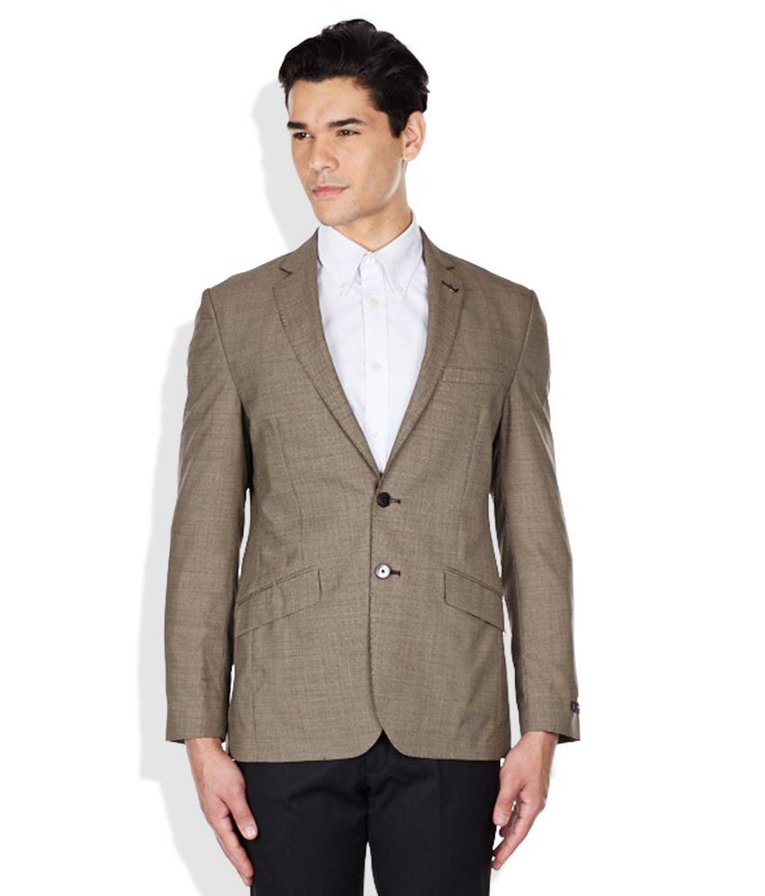 Raymond Brown Slim Fit Jacket