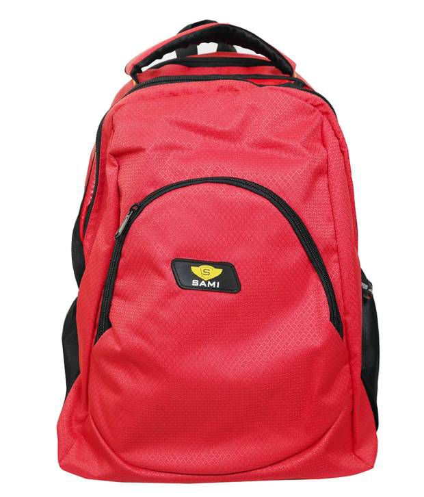 Sami Red Polyester School Bag For Kids