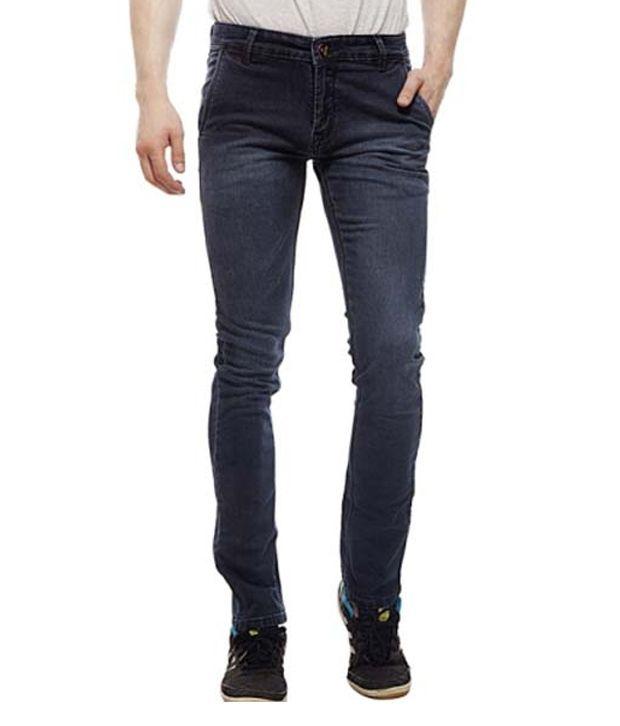 Lacrossejeans Blue Cotton Light Wash Faded Men's Jeans