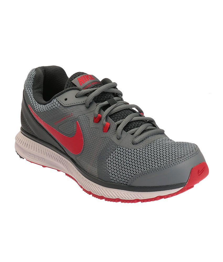 ed6e56e44793a0 Nike Zoom Winflo Grey and Red Sports Shoes - Buy Nike Zoom Winflo Grey and Red  Sports Shoes Online at Best Prices in India on Snapdeal