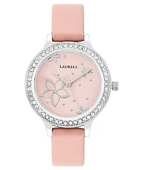 Laurels Analog Pink Dial Women's Watch (LL-fl-103)