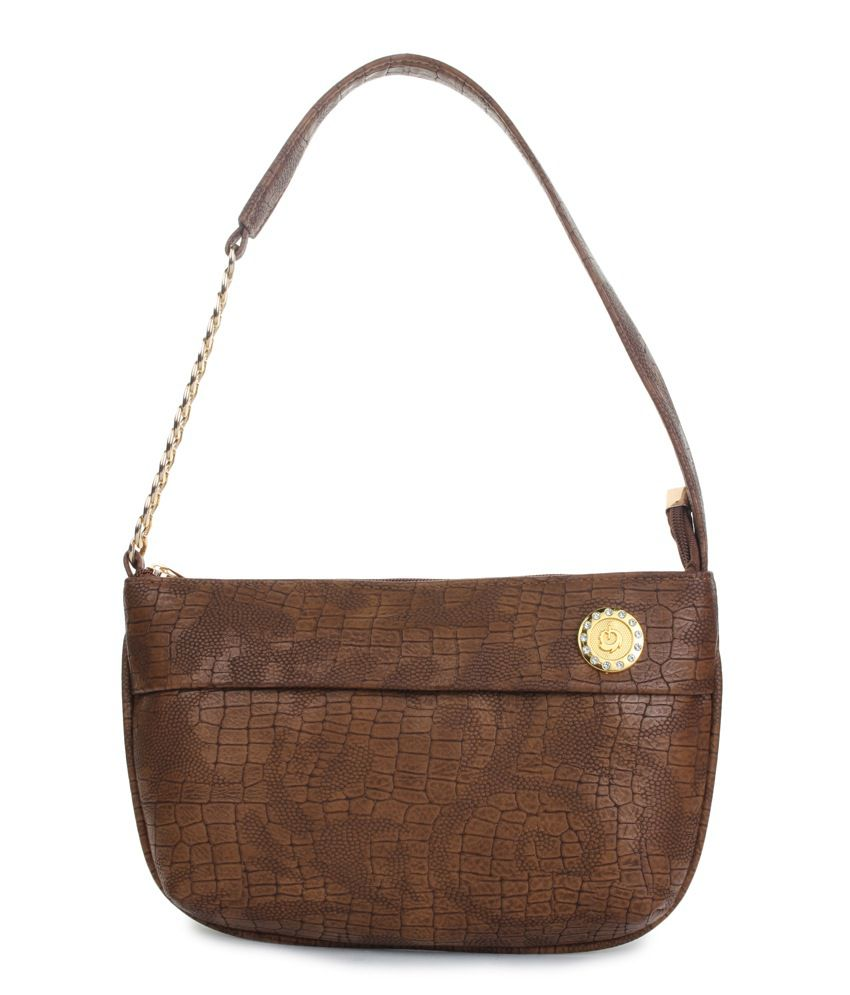 Do Bhai Brown Non Leather Sling-Bag