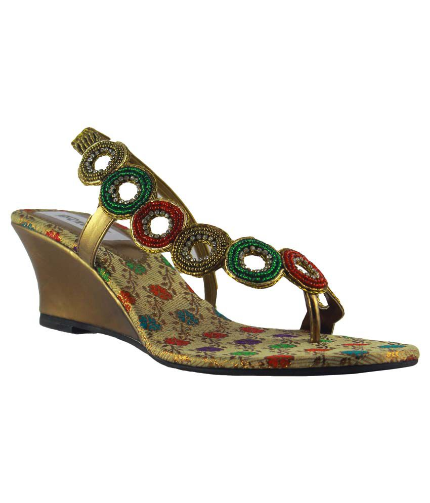 Faith GoldenRod Faux Leather Heeled Sandals
