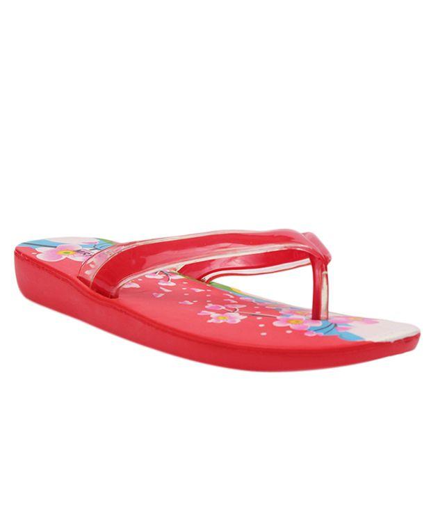 Aalishan Red Flat Slippers