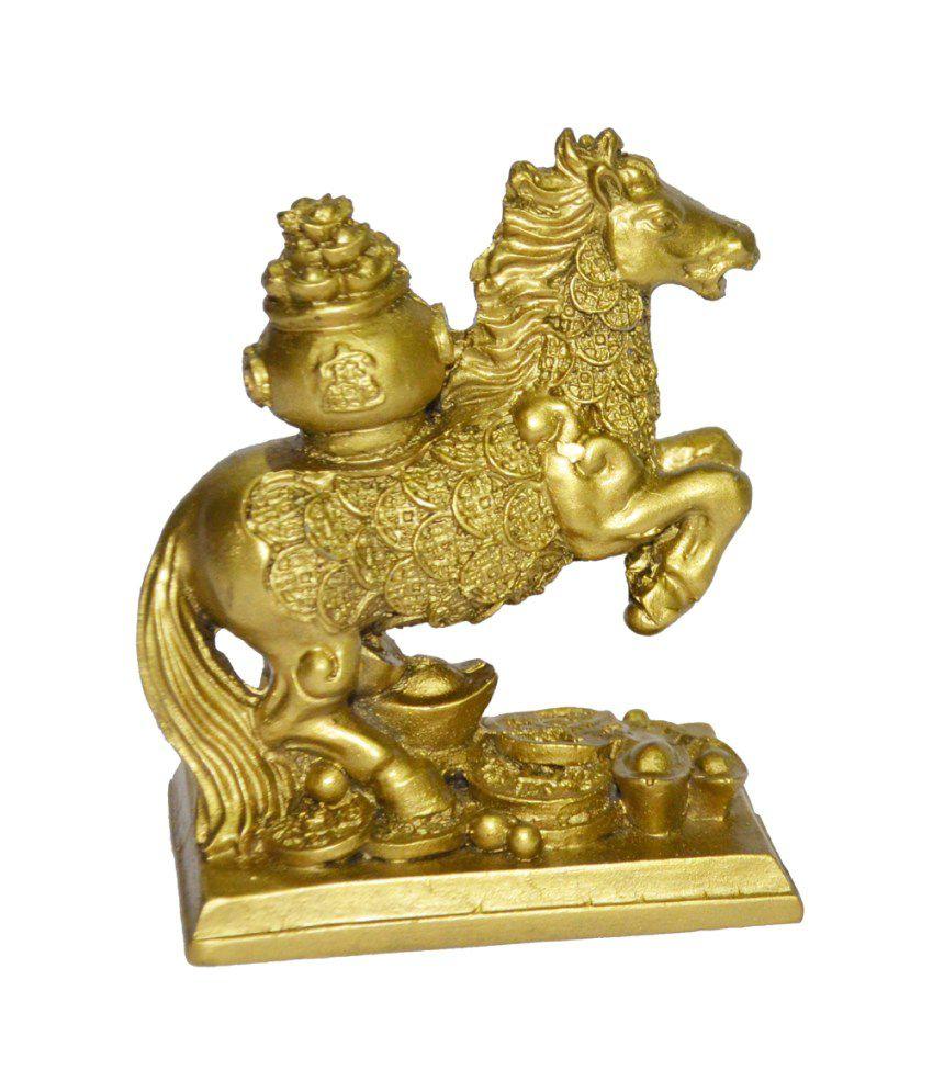 Anjalika Feng Shui Horse With Potli - Beige