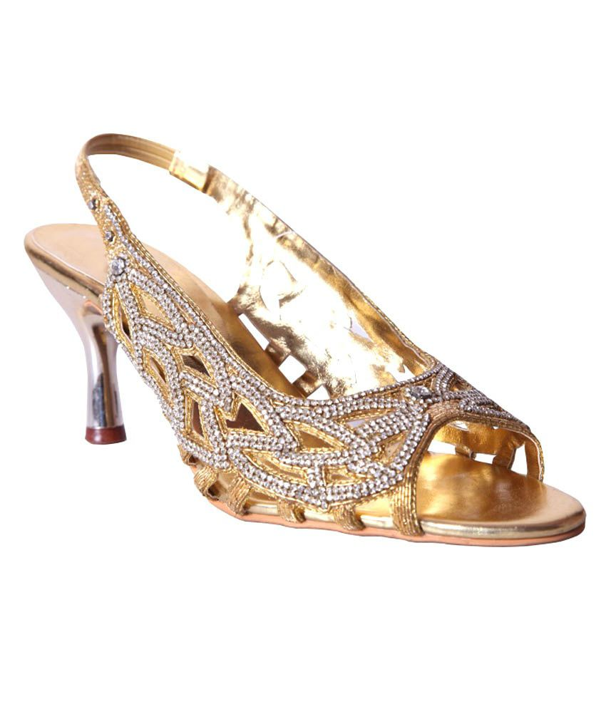 SS Creations Gold Ethnic Sandal