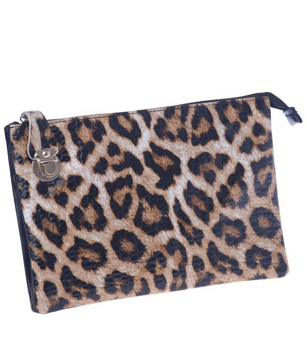Satchel Bags & Accessories Black Leapord Print Sling Bag