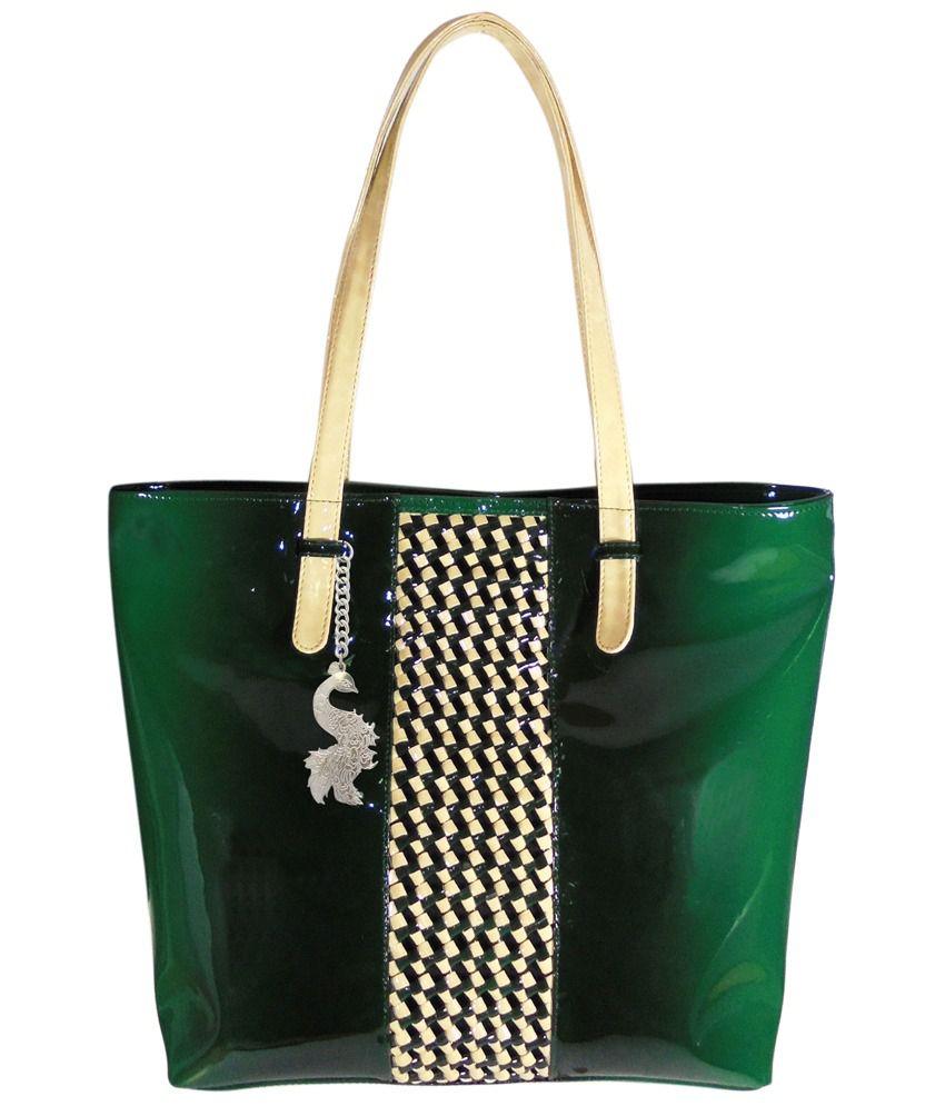 Abhay Enterprises Pvt Ltd. Green Shoulder Bag