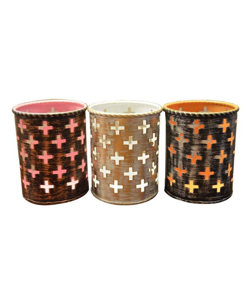 Height of Designs Votive Candle Gold Pack of 3