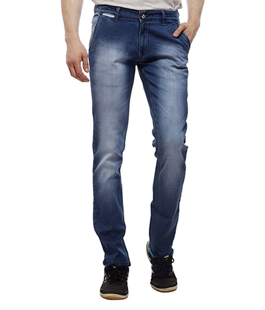 Lacrosse Jeans Blue Cotton Regular Fit Jeans