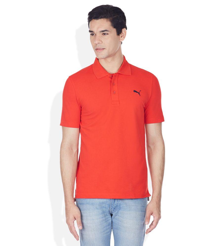 Puma Orange Polo T-Shirt
