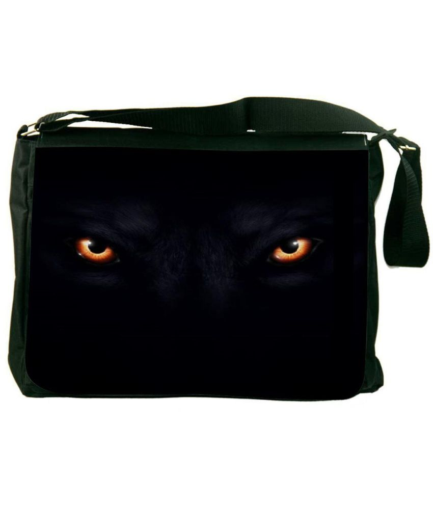 Snoogg Black Laptop Messenger Bag Black Messenger Bag