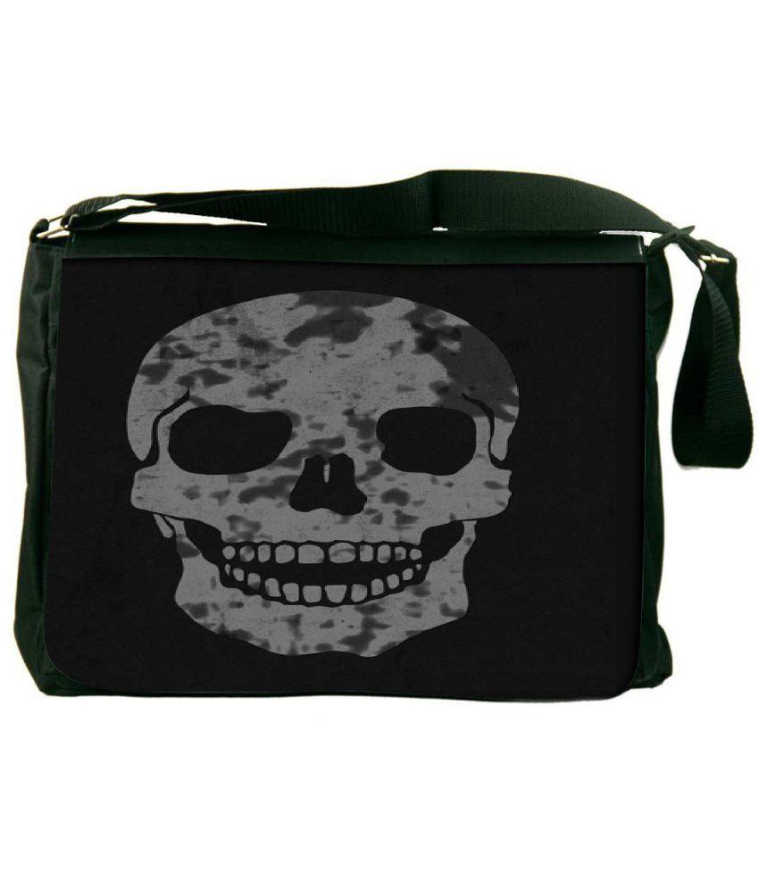 Snoogg Black and Gray Laptop Messenger Bag Black and Gray Messenger Bag
