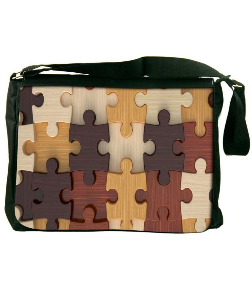 Snoogg Brown Laptop Messenger Bag Brown Messenger Bag