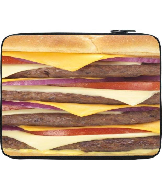 Snoogg Brown and Yellow Laptop Sleeve
