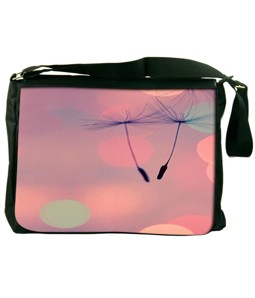 Snoogg Pink Laptop Messenger Bag Pink Messenger Bag