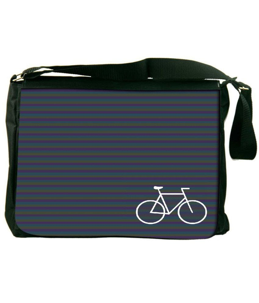 Snoogg Purple and Blue Laptop Messenger Bag Purple and Blue Messenger Bag