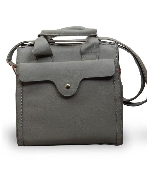 TLH Zene Premium Quality Stunning Grey Handbag